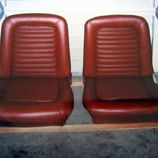 reupholstered vehicle seat